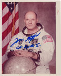 "Autographs:Celebrities, Tom Stafford Signed White Spacesuit ""Red Number"" Color Photo. ..."