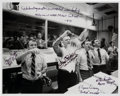 Autographs:Celebrities, NASA Mission Control Photo Signed by Griffin, Kranz, Lunney, andWindler. ...