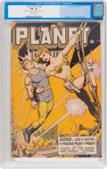 Golden Age (1938-1955):Science Fiction, Planet Comics #46 (Fiction House, 1947) CGC FN- 5.5 Off-whitepages....