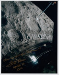 """Autographs:Celebrities, Fred Haise Signed Apollo 13 """"Lost Moon"""" Color Photo. ..."""