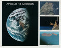 Autographs:Celebrities, Fred Haise Signed Apollo 13 Mission Composite Color Photo....