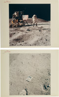 "Explorers:Space Exploration, Apollo 16: Two Original NASA ""Red Number"" Iconic Image Color Photos.... (Total: 2 Items)"