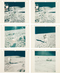 """Explorers:Space Exploration, Apollo 16: Group of Twelve NASA Original """"Red Number"""" Astronauts on Lunar Surface Color Photos, from Magazines 113, 114, 116, ..."""