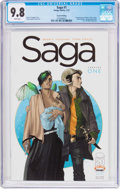 Modern Age (1980-Present):Science Fiction, Saga #1 Second Printing (Image, 2012) CGC NM/MT 9.8 White pages....