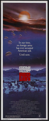 "Red Dawn (MGM, 1984). Insert (14"" X 36""). Action. Starring Patrick Swayze, C. Thomas Howell, Charlie Sheen and..."
