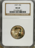 Washington Quarters: , 1957 25C MS68 NGC. NGC Census: (3/0). Mintage: 46,500,000.(#5862)...