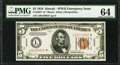 Small Size:World War II Emergency Notes, Fr. 2301* $5 1934 Hawaii Federal Reserve Note. PMG ChoiceUncirculated 64.. ...