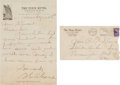 Baseball Collectibles:Others, 1940 Grover Cleveland Alexander Handwritten Signed Letter. ...