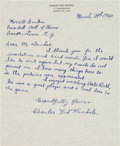 """Baseball Collectibles:Others, 1950 Charles """"Kid"""" Nichols Handwritten Signed Letter with Babe RuthContent. ..."""