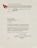 Baseball Collectibles:Others, 1953 Tris Speaker Signed Letter to Clark Griffith. ...