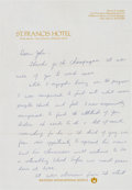 Baseball Collectibles:Others, 1960's Jackie Robinson Handwritten Signed Letter.