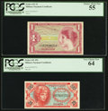 Military Payment Certificates:Series 641, Series 641 25¢ PCGS Very Choice New 64;. Series 641 $1 PCGS ChoiceAbout New 55.. ... (Total: 2 notes)