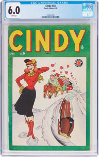 Cindy #34 (Timely, 1949) CGC FN 6.0 White pages