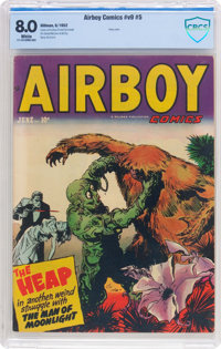 Airboy Comics V9#5 (Hillman Fall, 1952) CBCS VF 8.0 White pages