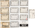 Explorers:Space Exploration, Apollo Mission Evaluations: Collection of Twelve NASA / MannedSpacecraft Center Security Badges Issued to Donald T. Hamilton....