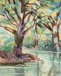 Fine Art - Work on Paper, Charles Taylor Bowling (American, 1891-1985). Creek and Granite (two works), 1961. Watercolor on paper each. 8-1... (Total: 2 )