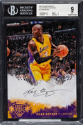 Basketball Cards:Singles (1980-Now), Signed 2014-15 Court Kings 5x7 Box Toppers Autographs Kobe Bryant #1 BGS Mint 9. ...