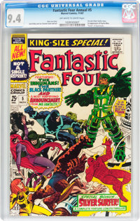 Fantastic Four Annual #5 (Marvel, 1967) CGC NM 9.4 Off-white to white pages