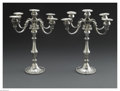 Other:American, A PAIR OF AMERICAN SILVER CANDELABRA. Mark of Gorham, Providence,RI, Early Twentieth Century. The matching pair of five-c... (Total:2 Items)