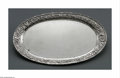 Other:American, A STERLING BREAD TRAY. S. Kirk and Son. The sterling bread traywith repousse floral motif to the raised rim, marked to th...