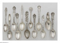 Other:American, A GROUPING OF TWELVE SILVER SOUVENIR SPOONS. Tiffany & Co.;Towle; and other various makers. The group comprising of ten s...(Total: 12 Items)