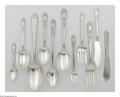Other:American, A SEVENTY-FOUR PIECE SET OF SILVER FLATWARE. Treasure Sterling,c.1921. The sterling flatware set with S monogrammed t...(Total: 74 Items)
