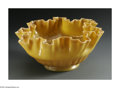 Art Glass:Other , AN ART GLASS BOWL. Martinsville Glass Company, Early 20th Century.The footed bowl with ribbed sides flaring out to an int...