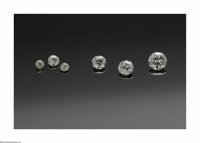 A PARCEL OF SIX LOOSE DIAMONDS Various Makers  The group of six loose stones comprising of three diamonds (.27ct., .43 c...