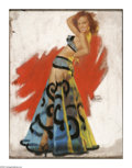 Illustration:Pin-Up, EARL MORAN (American, 1893 - 1984). Belly Dancer. Pastel on board.25 x 20in.. Signed lower left. ...