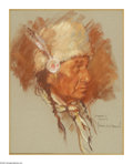 Fine Art - Painting, American:Contemporary   (1950 to present)  , HARLEY BROWN (1939 - ) . Swampie Stoney. 14 x 11in.. Pastel onpaper. Signed and titled lower right...