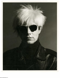 GREG GORMAN (American b. 1949) Andy Warhol, Los Angeles, 1986 Gelatin silver print 19.88in. x 15.88in. Signed and dated...