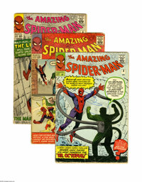 The Amazing Spider-Man Group (Marvel, 1963-88) Condition: Average VG. This large, 31-issue group lot is loaded with key...