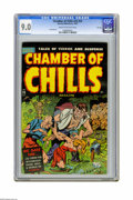 Golden Age (1938-1955):Horror, Chamber of Chills #23 (#3) File Copy (Harvey, 1951) CGC VF/NM 9.0Cream to off-white pages. Overstreet notes some excessive ...