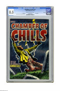 Golden Age (1938-1955):Horror, Chamber of Chills #17 File Copy (Harvey, 1953) CGC VF+ 8.5 Cream tooff-white pages. Features a 1953 calendar. Art by Lee El...