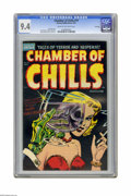 Golden Age (1938-1955):Horror, Chamber of Chills #19 File Copy (Harvey, 1953) CGC NM 9.4 Cream tooff-white pages. Cover by Lee Elias. Interior art by Bob ...