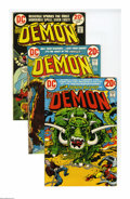 Bronze Age (1970-1979):Superhero, The Demon Box Lot (DC, 1972-74) Condition: Average VF. Created by Jack Kirby during his early-'70s tenure at DC, Etrigan the... (Total: 130)