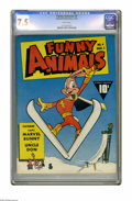 Golden Age (1938-1955):Funny Animal, Funny Animals #4 (Fawcett, 1943) CGC VF- 7.5 White pages.Overstreet 2005 VF 8.0 value = $132. CGC census 10/05: 1 in 7.5,n...