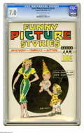 Golden Age (1938-1955):Miscellaneous, Funny Picture Stories V2#5 (Comics Magazine, 1938) CGC FN/VF 7.0 Cream to off-white pages. Cover by Bob Wood. Overstreet 200...
