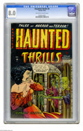 Golden Age (1938-1955):Horror, Haunted Thrills #4 (Farrell, 1952) CGC VF 8.0 Off-white to whitepages. Overstreet 2005 VF 8.0 value = $177. CGC census 10/0...