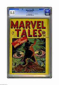 Marvel Tales #93 (Atlas, 1949) CGC FN- 5.5 Cream to off-white pages. First horror issue. Overstreet 2005 FN 6.0 value =...