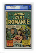 """Golden Age (1938-1955):Romance, A Moon, A Girl...Romance #10 (EC, 1949) CGC GD/VG 3.0 Cream tooff-white pages. Cover and art by Al Feldstein. CGC notes, """"N..."""