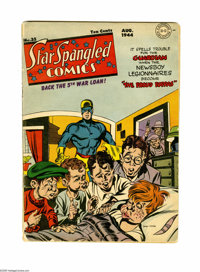 Star Spangled Comics #35 (DC, 1944) Condition: VG-. Cover by Fred Ray. Interior art by Stan Kaye, Arturo Cazeneuve, and...