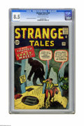 Silver Age (1956-1969):Mystery, Strange Tales #100 (Marvel, 1962) CGC VF+ 8.5 Cream to off-whitepages. Art by Jack Kirby and Steve Ditko. Overstreet 2005 V...