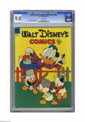 Golden Age (1938-1955):Cartoon Character, Walt Disney's Comics and Stories #162 (Dell, 1954) CGC VF/NM 9.0White pages. Carl Barks cover. Art by Barks, Paul Murry, an...