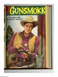 Gunsmoke #6-17 Bound Volume (Dell, 1958-59). These are Western Publishing file copies that have been trimmed and bound i...