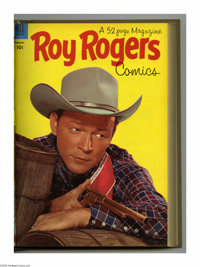 Roy Rogers Comics #61-72 Bound Volume (Dell, 1953). These are Western Publishing file copies that have been trimmed and...