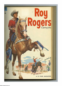Roy Rogers Comics #73-84 Bound Volume (Dell, 1954). These are Western Publishing file copies that have been trimmed and...