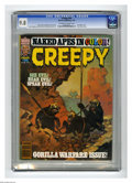 "Magazines:Horror, Creepy #95 (Warren, 1978) CGC NM/MT 9.8 Off-white to white pages. ""Apes"" theme issue. Bernie Wrightson, John Severin, and Es..."