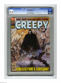 """Magazines:Horror, Creepy #144 (Warren, 1983) CGC NM 9.4 Off-white to white pages. """"Graveyard and Ghosts"""" issue. Frank Frazetta cover. Overstre..."""