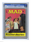 """Magazines:Mad, Mad #124 Gaines File pedigree (EC, 1969) CGC NM 9.4 White pages.""""Rosemary's Baby"""" spoof. """"Casey at the Bat"""" poem parody. No..."""